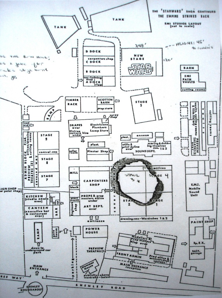 Elstree Studios layout 1980's