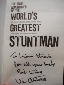 Vic's book signature