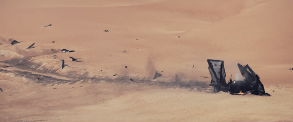 Jakku downed Tie fighter