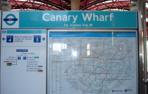 Sign - Canary Wharf