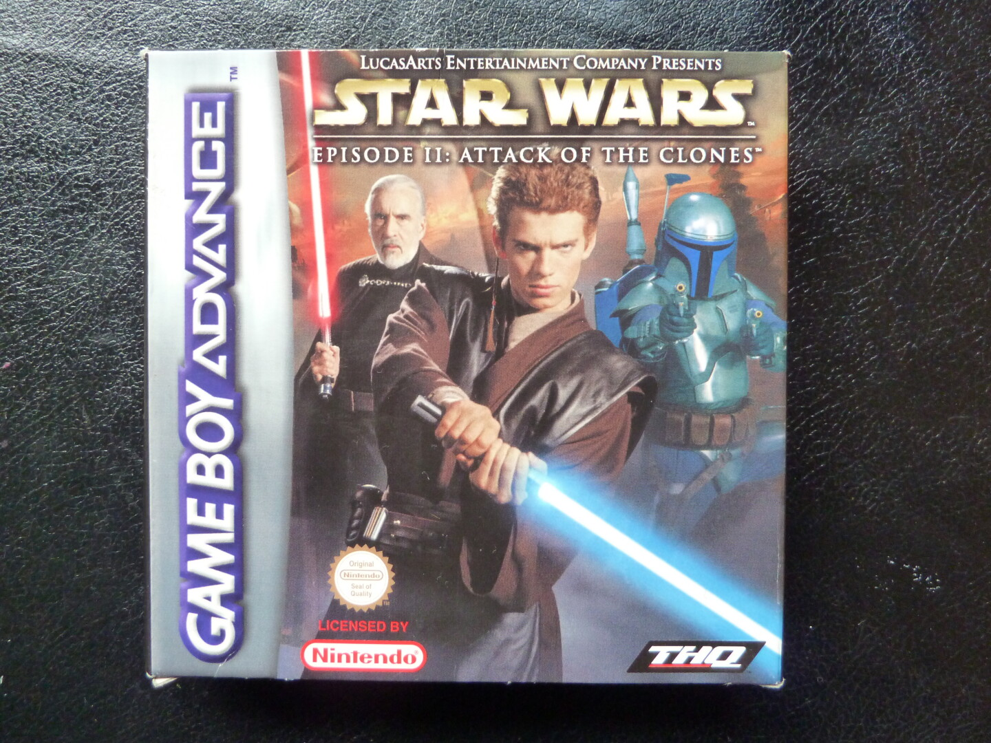 SW Episode 2 Attack of the Clones GBA front